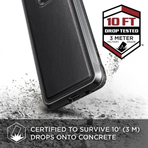 Aluminiowe pancerne etui X-Doria Defense LUX do Samsung Galaxy S9 Black Leather