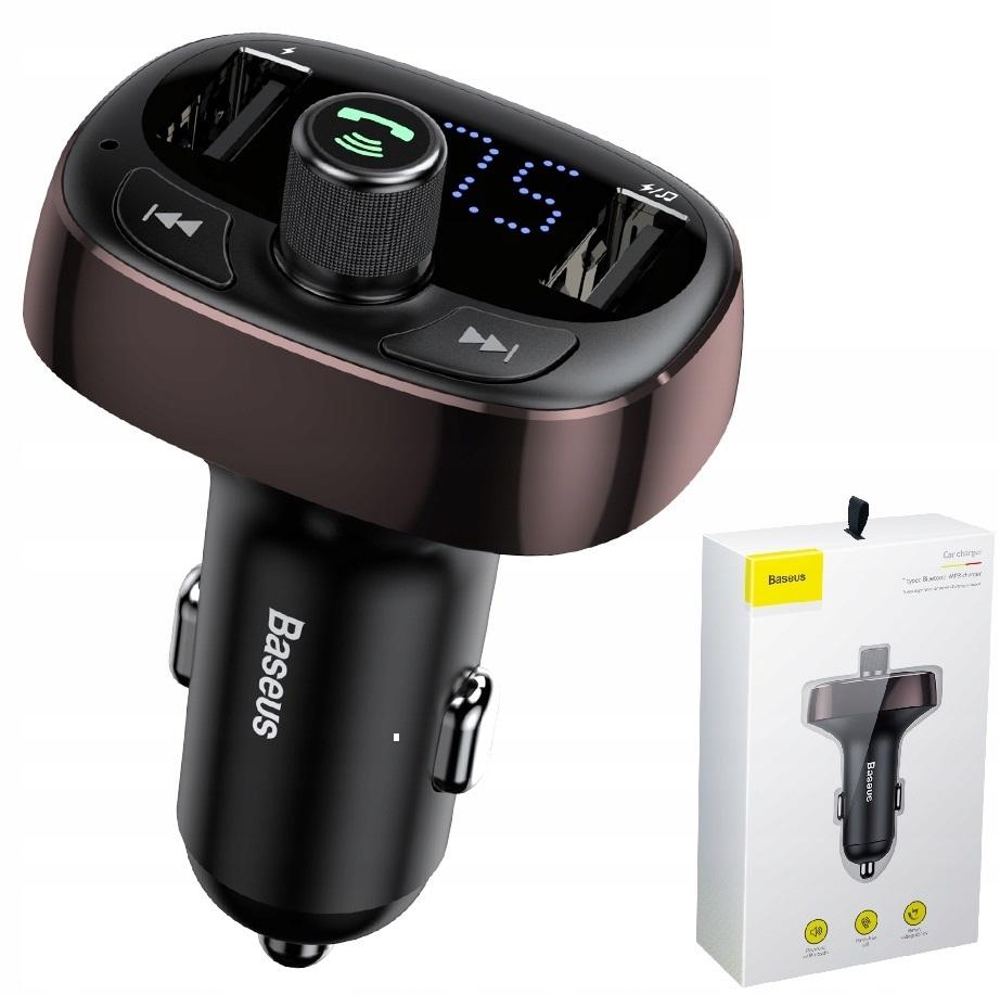 Ogromnie Ładowarka samochodowa z transmiterem FM Baseus T Typed Bluetooth CH64