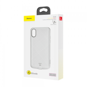 Etui powerbank Baseus Continuous Backpack 4000mAh do iPhone Xs / X białe