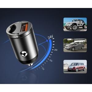Mini ładowarka samochodowa Baseus Tiny Star USB QC 3.0 30W niebieska
