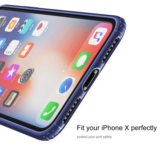 Ultra Cienkie Etui Baseus Soft Case Do Apple Iphone Xs X Niebieskie