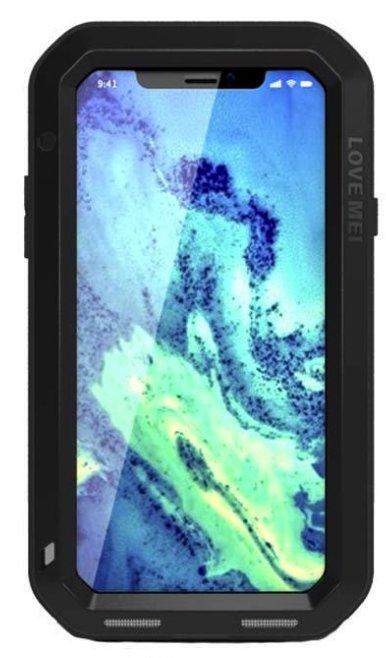 0393c38b087 Etui pancerne ze szkłem LOVE MEI Powerful do Apple iPhone Xs / X czarne