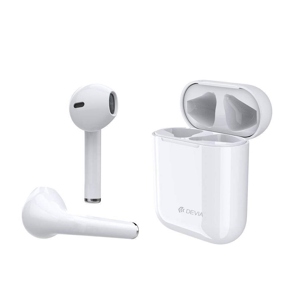 Słuchawki bezprzewodowe Devia TWS 5.0 białe w Mielectronics.pl
