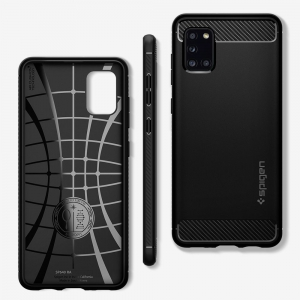 Etui Spigen Rugged Armor do Samsung Galaxy A31 czarne